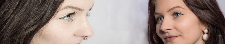 Bild Gesicht mit Piercing und ohne